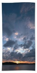 Hand Towel featuring the photograph Variations Of Sunsets At Gulf Of Bothnia 5 by Jouko Lehto