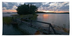 Bath Towel featuring the photograph Variations Of Sunsets At Gulf Of Bothnia 6 by Jouko Lehto