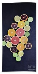 Variety Of Citrus Fruits Bath Towel