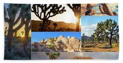 Variety Of Joshua Tree Collage Bath Towel