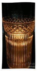 Vase In Amber Light Bath Towel