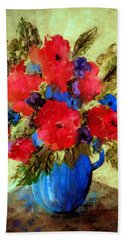 Vase Of Delight-still Life Painting By V.kelly Hand Towel