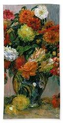Vase Of Flowers Hand Towel