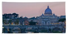 Vatican City At Sunset Bath Towel