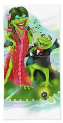 Vegas Frogs Lounge Act Bath Towel