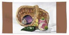 Veggie Basket Hand Towel