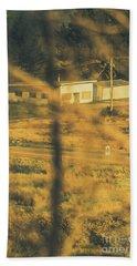 Vegitation View Of Rural Farm Homestead  Bath Towel