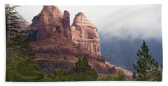 Hand Towel featuring the photograph Veiled In Clouds by Phyllis Denton