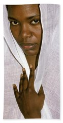 Veiled Woman Hand Towel