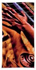 Velvet Strum Electric Hand Towel by Lesa Fine