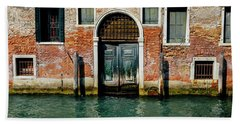 Venetian House On Canal Bath Towel