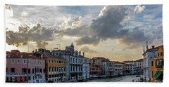 Bath Towel featuring the photograph Venetian Sky by Jean Haynes