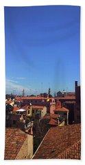 Hand Towel featuring the photograph Venetian Skyline by Anne Kotan