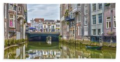 Bath Towel featuring the photograph Venetian Vibe In Dordrecht by Frans Blok