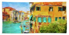 Hand Towel featuring the photograph Venezia Afternoon by Connie Handscomb