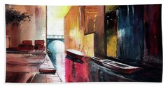 Hand Towel featuring the painting Venice 1 by Anil Nene