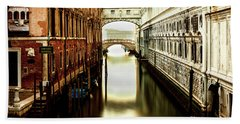 Venice Bridge Of Sighs Bath Towel