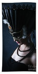 Bath Towel featuring the photograph Venice Carnival Mask by Dimitar Hristov