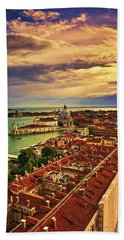 From The Bell Tower In Venice, Italy Hand Towel