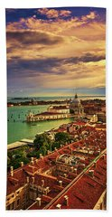 From The Bell Tower In Venice, Italy Bath Towel