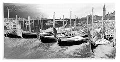 Venice Gondolas Silver Hand Towel