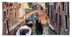 Venice Gondolier Bath Towel