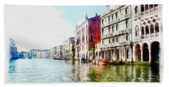 Venice Bath Towel by Maciek Froncisz