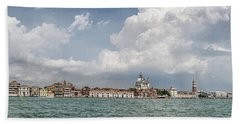 Venice Panorama From La Giudecca Bath Towel