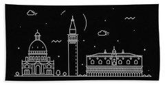 Venice Skyline Travel Poster Bath Towel