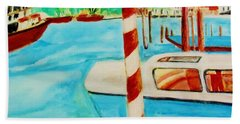 Venice Travel By Boat Hand Towel