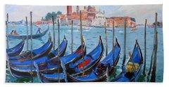 Venice View Of San Giorgio Maggiore Bath Towel