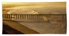 Ventura, Ca Pier At Sunrise Bath Towel