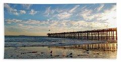 Ventura Pier At Sunset Hand Towel