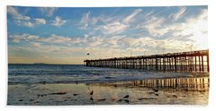 Ventura Pier At Sunset Bath Towel