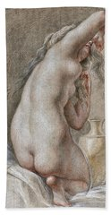Venus Preparing For The Bath Hand Towel