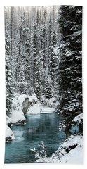 Verdant Creek - Winter 1 Hand Towel by Stuart Turnbull