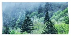 Verdant Forest In The Great Smoky Mountains Hand Towel
