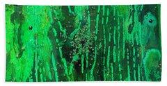 Verde Abstract Bath Towel by Carolyn Repka