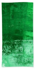 Verde-  Contemporary Abstract Art Bath Towel