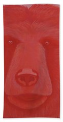 Vermillion Bear Hand Towel
