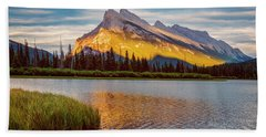 Vermillion Lakes And Mt Rundle II Hand Towel
