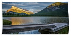 Vermillion Lakes And Mt Rundle Sunset Hand Towel