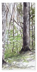Vermont Woods Hand Towel by Laurie Rohner