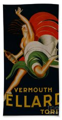 Vermouth Bellardi Torino Vintage Poster Bath Towel