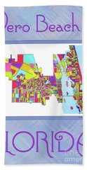 Vero Beach Map1 Hand Towel