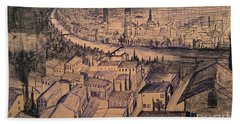 Verona Birdview Drawing Hand Towel