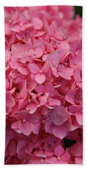Very Pink Hydrangea Blossoms 2578 H_2 Hand Towel