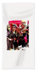 Very Proud Bolivian Dancers Hand Towel