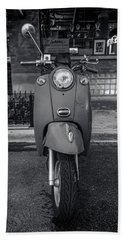 Bath Towel featuring the photograph Vespa by Sebastian Musial
