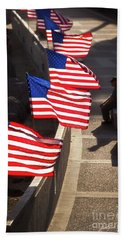 Veteran With Our Nations Flags Bath Towel